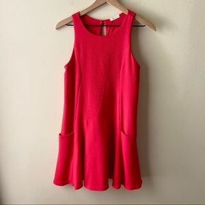 Everly | Red Fit & Flare Dress